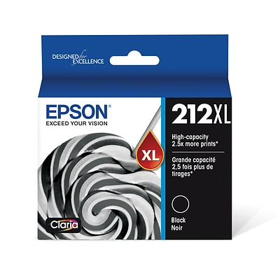 Epson T212XL Black Ink Cartridge, High Yield, 1 Pack (T212XL120-S)