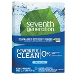 Seventh Generation Free & Clear Powerful Clean Dishwasher Detergent Powder, 45 oz., Unscented (22150