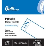 Quill Brand® Postage Meter Self-Adhesive Labels, 1-5/8 x 5-1/2, White, 300 Labels/Pack (P1300)