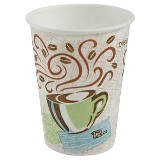 Dixie PerfecTouch 12 Oz 5342DX, 500 Cups Georgia-Pacific Insulated Paper Hot Coffee Cup by GP PRO .1 Pack Coffee Haze 25 Cups Per Sleeve, 20 Sleeves Per Case