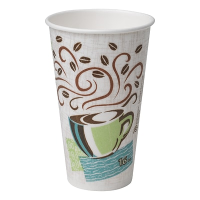 Dixie® PerfecTouch® Insulated Hot Cup by GP PRO, 16 oz., Coffee Haze, 50/Pack (5356CD)