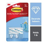 Command™ Small Hooks, Clear, 2 Hooks (17092CLR-ES)