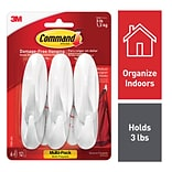 Command™ Medium Designer Hooks Value Pack, White, 6 Hooks (17081-6ES)