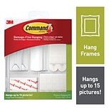 Command™ Picture Hanging Assortment Kit (50 piece), White/Clear, Assorted (17213-ES)