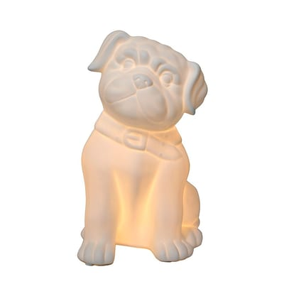 Simple Designs Incandescent Porcelain Table Lamp, Puppy Dog (LT3212-WHT)