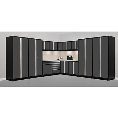 NewAge Products Pro 3.0 Series, 15-Piece Garage Cabinet Corner Set, Gray (51260)