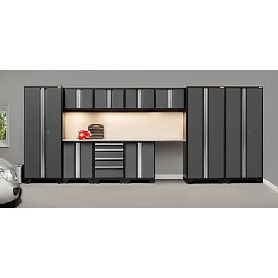 NewAge Products Pro 3.0 Series, 12-Piece Garage Cabinet Corner Set, Stainless Steel Worktop, Gray (50085)