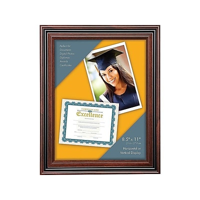 Victory Light Plastic Certificate Frame, Rosewood (VS4501B.811)