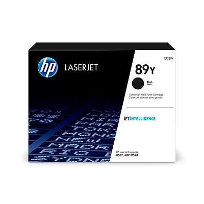 HP 89Y Black Toner Cartridge, Extra High Yield (CF289Y)