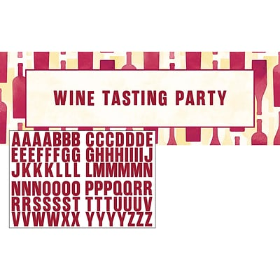 Creative Converting Sip Sip Hooray Wine Giant Party Banner (325090)