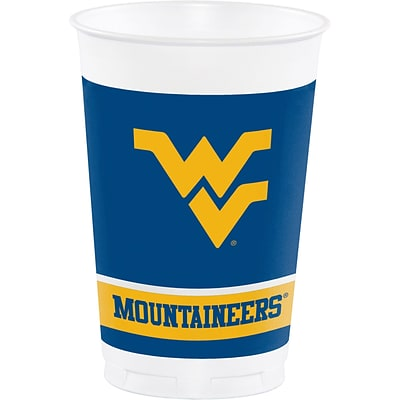 NCAA West Virginia University Plastic Cups 8 pk (374895)