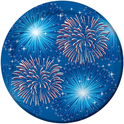 Creative Converting Fireworks and Flags Dessert Plates 8 pk (319632)