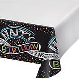 Creative Converting Chalk Birthday Plastic Tablecloth (725971)