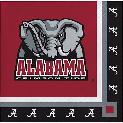 NCAA University of Alabama Beverage Napkins 20 pk (650697)