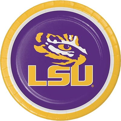 NCAA Louisiana State University Paper Plates 8 pk (420838)