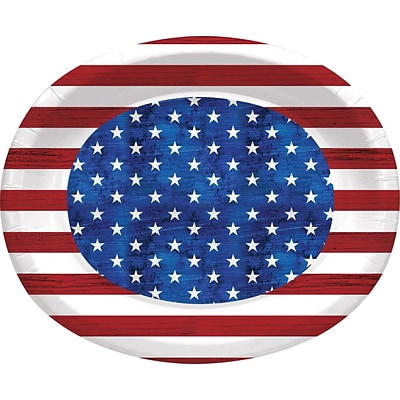 Creative Converting Patriotism Oval Plates 8 pk (320697)