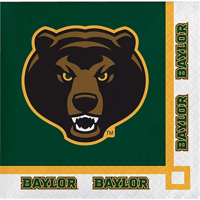 NCAA Baylor University Beverage Napkins 20 pk (654352)