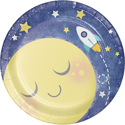 Creative Converting To the Moon and Back Dessert Plates 8 pk (321806)