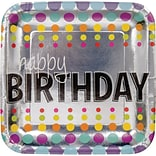 Creative Converting Birthday Pop Paper Dinner Plates, 8/Pack (425834)