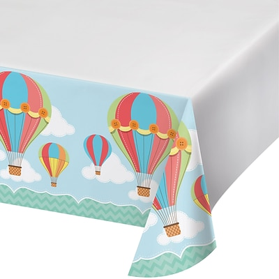 Creative Converting Up, Up, and Away Hot Air Balloon Plastic Tablecover (315322)