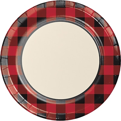 Creative Converting Buffalo Plaid Paper Plates 8 pk (321825)