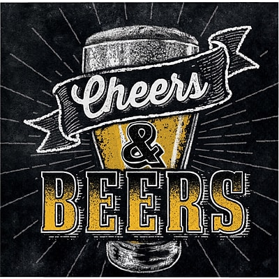 Creative Converting Cheers and Beers Beverage Napkins 16 pk (322322)