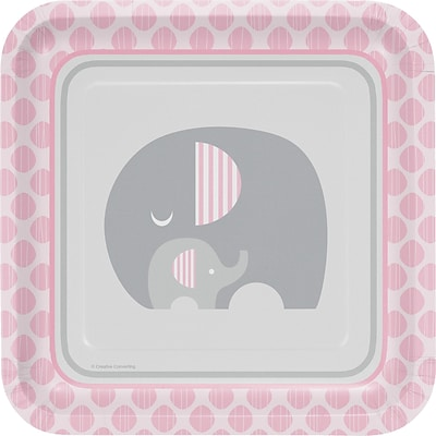 Creative Converting Little Peanut Girl Elephant Paper Plates 8 pk (316944)
