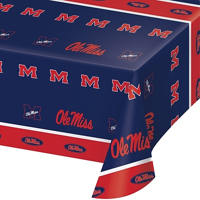 NCAA University of Mississippi Plastic Tablecloth (724893)