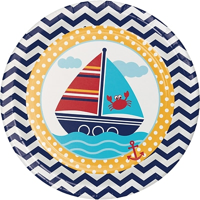 Creative Converting Ahoy Matey Nautical Paper Plates 8 pk (427226)