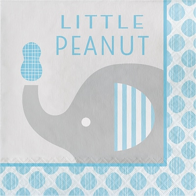 Creative Converting Little Peanut Boy Elephant Napkins 16 pk (316934)
