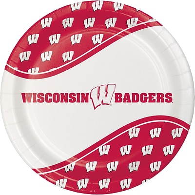 NCAA University of Wisconsin Paper Plates 8 pk (424858)