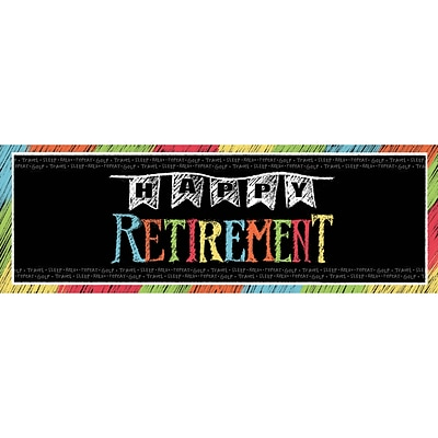 Creative Converting Retirement Chalk Giant Party Banner (291977)