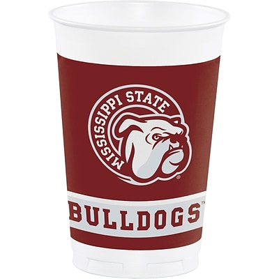 NCAA Mississippi State University Plastic Cups 8 pk (014094)