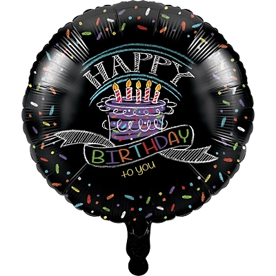 Creative Converting Chalk Birthday Mylar Balloon (045971)