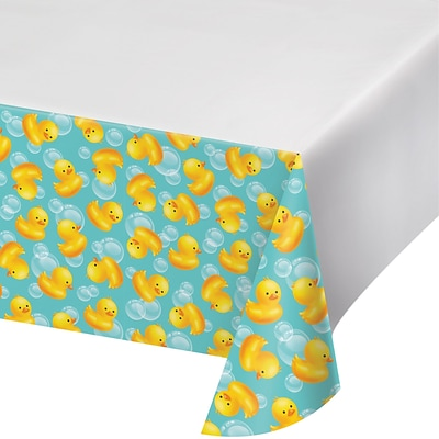 Creative Converting Rubber Duck Bubble Bath Plastic Tablecloth (727058)