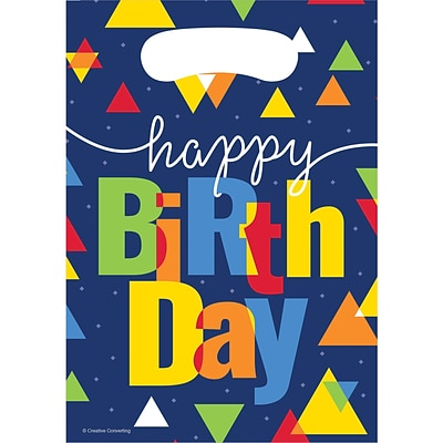 Creative Converting Geo-Pop Birthday Favor Bags 8 pk (324640)
