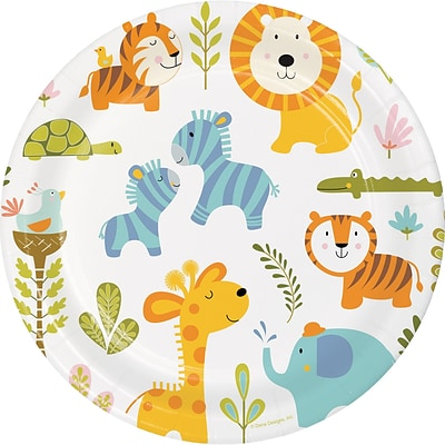 Creative Converting Happy Jungle Paper Plates 8 pk (324577)