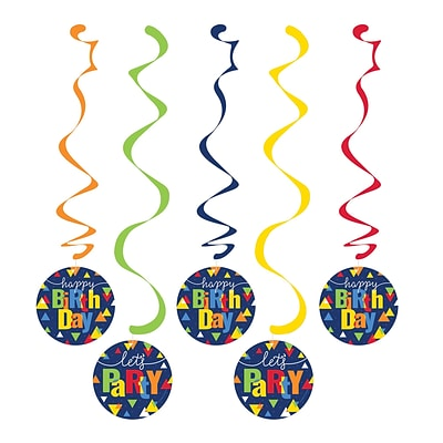 Creative Converting Geo-Pop Birthday Danglers 5 pk (324638)