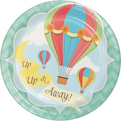 Creative Converting Up, Up, and Away Hot Air Balloon Dessert Plates 8 pk (417606)