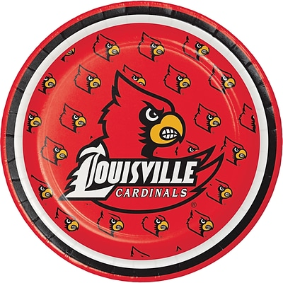 NCAA University of Louisville Dessert Plates 8 pk (414760)