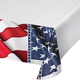 Creative Converting American Flag Plastic Tablecloth (319642)