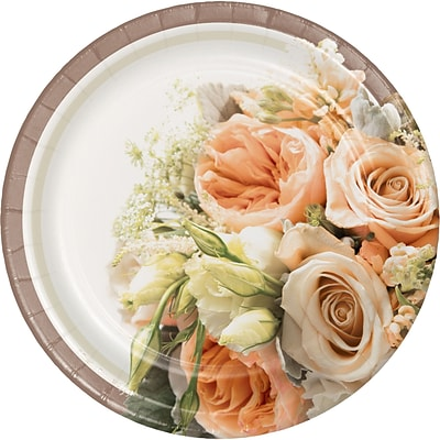 Creative Converting Rose Gold Bouquet Dessert Plates 8 pk (318153)