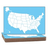 Flipside U.S. Map Dry Erase Board, Two-Sided, Class Pack of 12 (FLP11222)