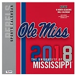 Mississippi Rebels 2018 12X12 Team Wall Calendar (18998011809)
