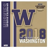 Washington Huskies 2018 12X12 Team Wall Calendar (18998011827)