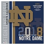 Notre Dame Fighting Irish 2018 Mini Wall Calendar (18998040524)