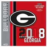 Georgia Bulldogs 2018 Mini Wall Calendar (18998040603)