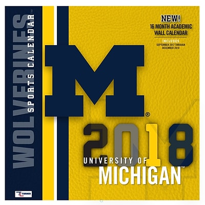 Michigan Wolverines 2018 Mini Wall Calendar (18998040523)