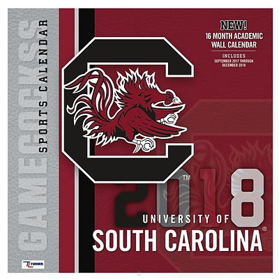 South Carolina Gamecocks 2018 12X12 Team Wall Calendar (18998011818)