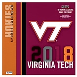 Virginia Tech Hokies 2018 12X12 Team Wall Calendar (18998011826)